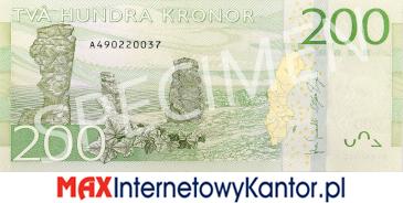 200 koron szwedzkich rewers
