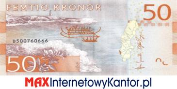 50 koron szwedzkich rewers