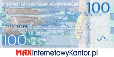 100 koron szwedzkich rewers