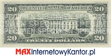20 dolarów merykańskie 1990 r. rewers