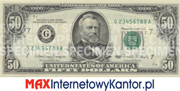 50 dolarów merykańskie 1990 r. awers