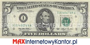 5 dolarów merykańskie 1993 r. awers
