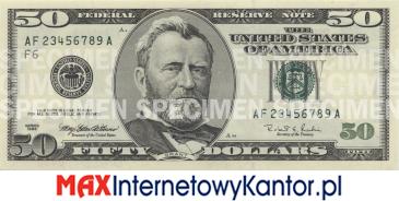 50 dolarów merykańskie 1997 r. awers