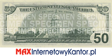 50 dolarów merykańskie 1997 r. rewers