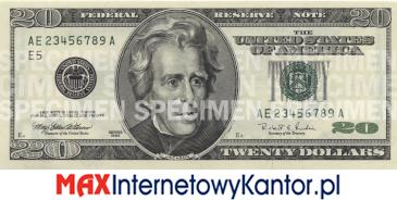 20 dolarów merykańskie 1998 r. awers