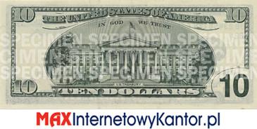 10 dolarów merykańskie 2000 r. rewers