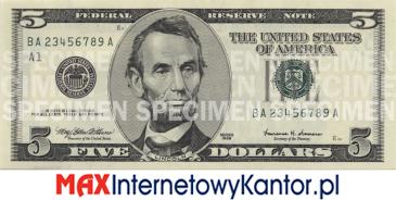 5 dolarów merykańskie 2000 r. awers