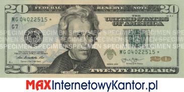 20 dolarów merykańskie 2003 r. awers