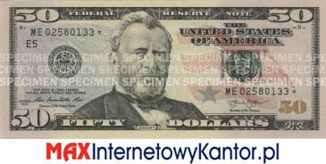 50 dolarów merykańskie 2004 r. awers