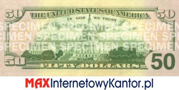 50 dolarów merykańskie 2004 r. rewers