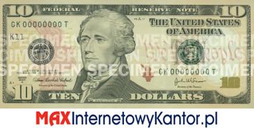 10 dolarów merykańskie 2006 r. awers