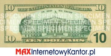 10 dolarów merykańskie 2006 r. rewers